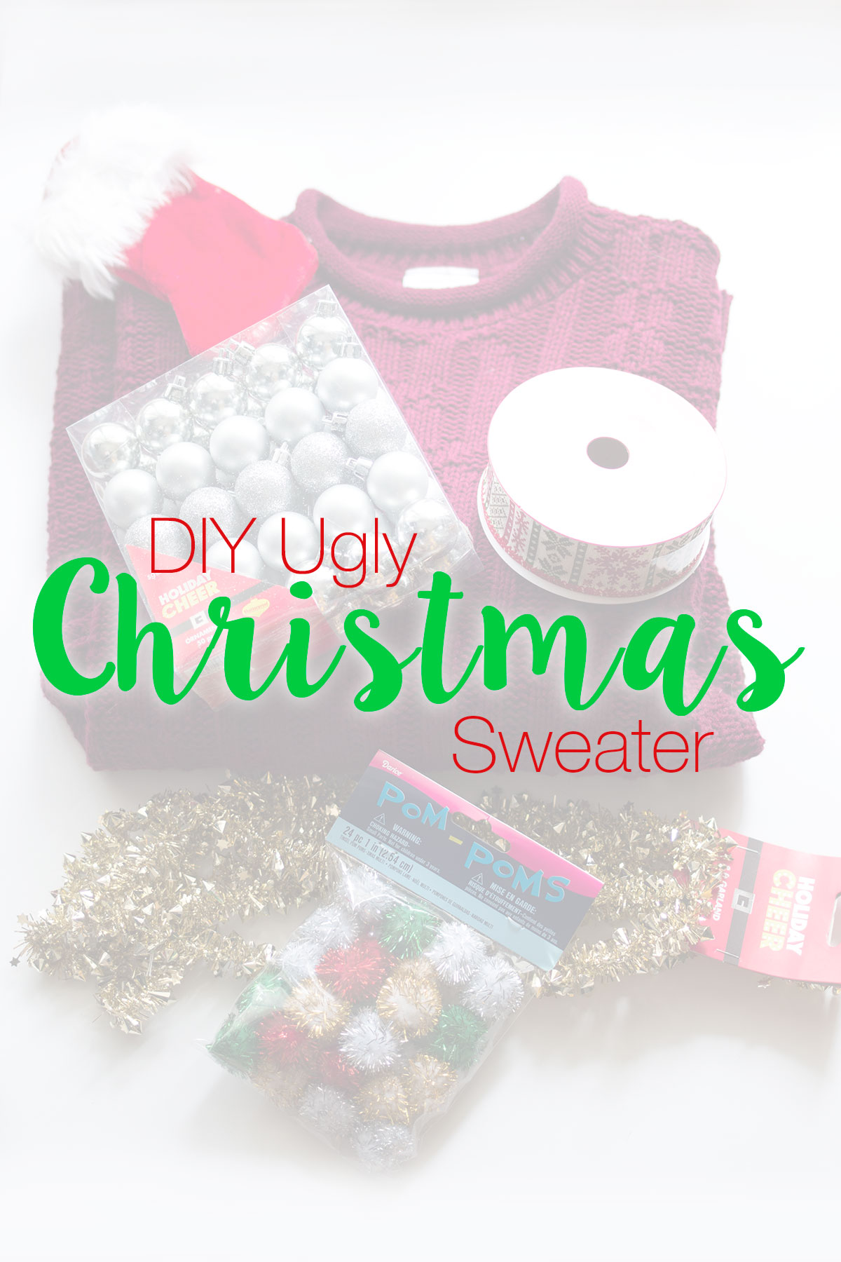 National Ugly Sweater Day: DIY Ugly Christmas Sweater Project // hellorigby.com seattle fashion blog