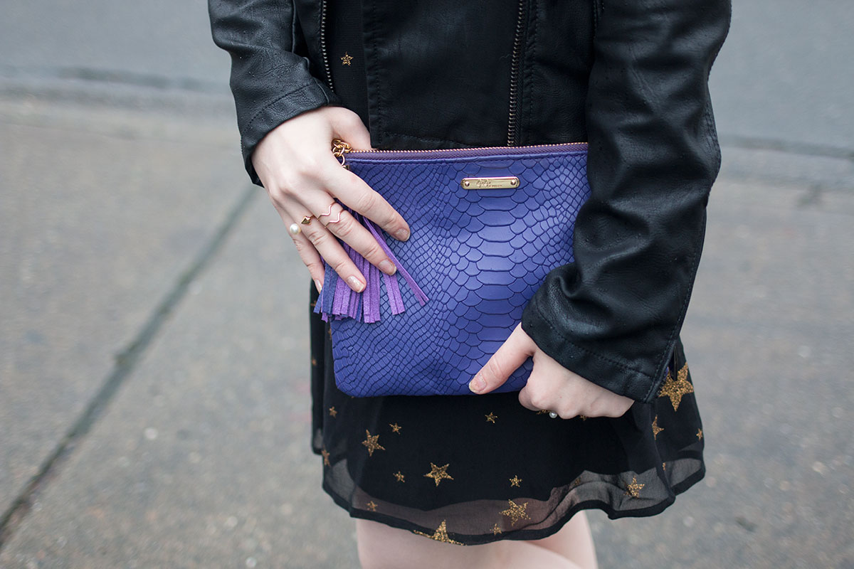 New Year Outfit Ideas: Casual ASOS Star Dress & Gigi New York All In One Bag Outfit // hellorigby seattle fashion & beauty blog