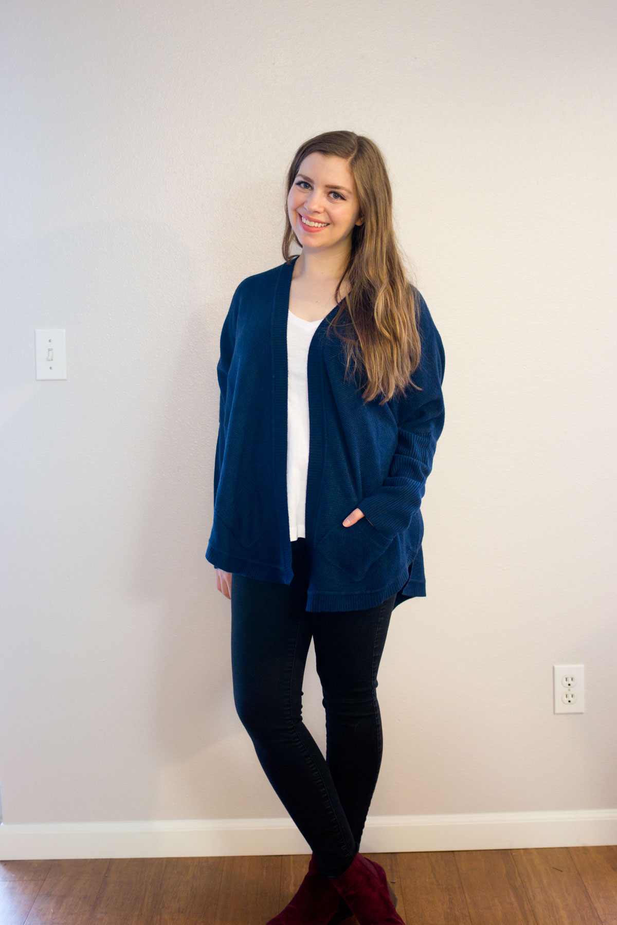 Stitch Fix December 2015: Sweet Romeo Mika Open Drape Cardigan // hellorigby.com seattle fashion & style blog