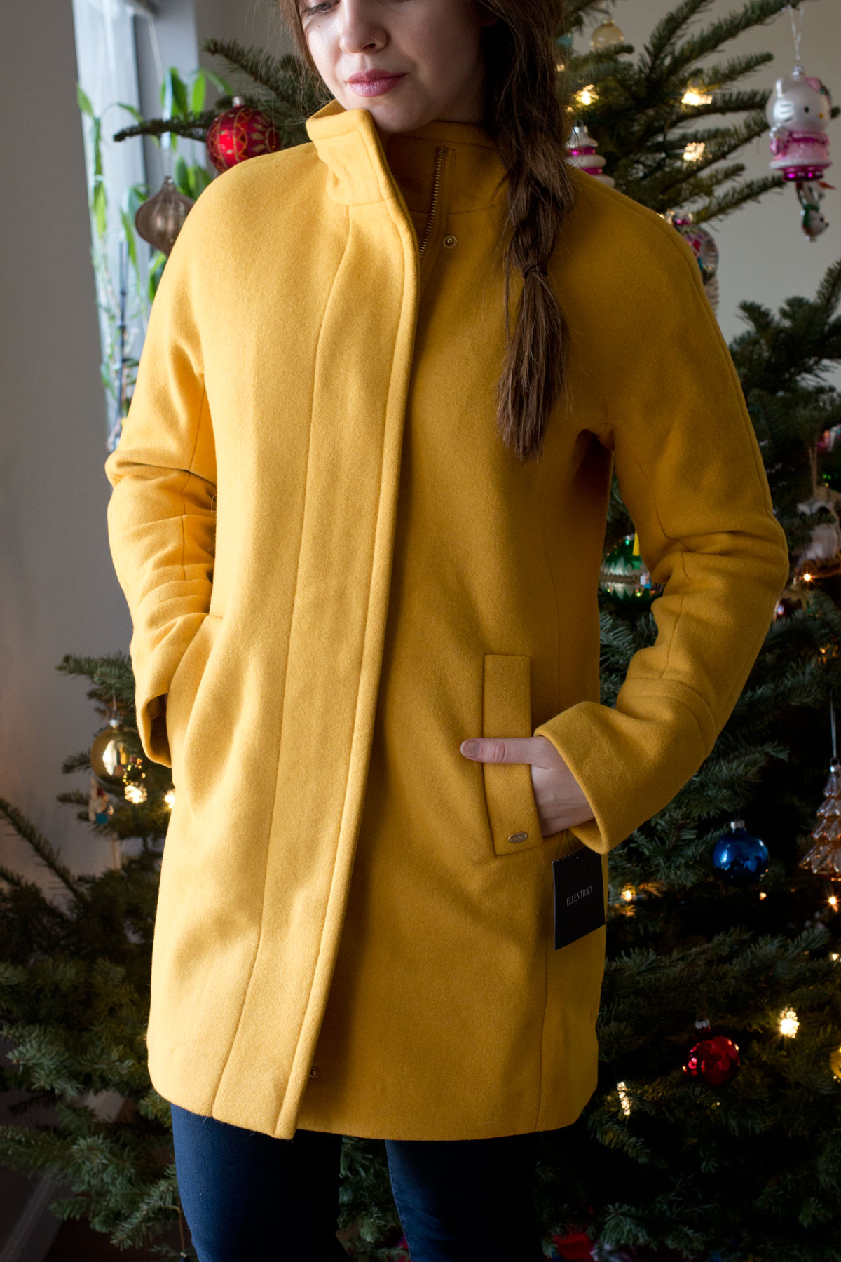 Nordstrom Half Yearly Sale 2015: Ellen Tracy Wool Blend Stadium Coat in Marigold // hellorigby seattle fashion & beauty blog