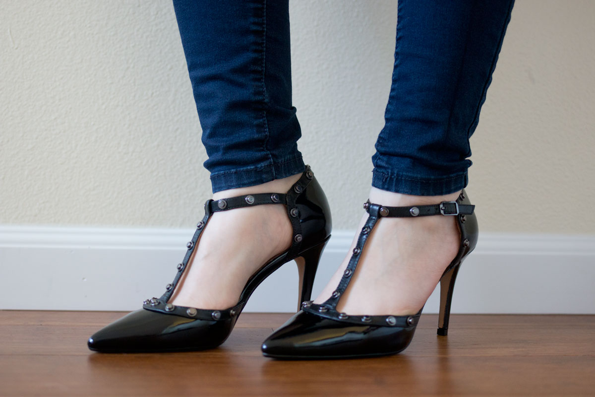 Nordstrom Half Yearly Sale 2015: Halogen Martine Studded T-Strap Pumps in Black // hellorigby seattle fashion & beauty blog