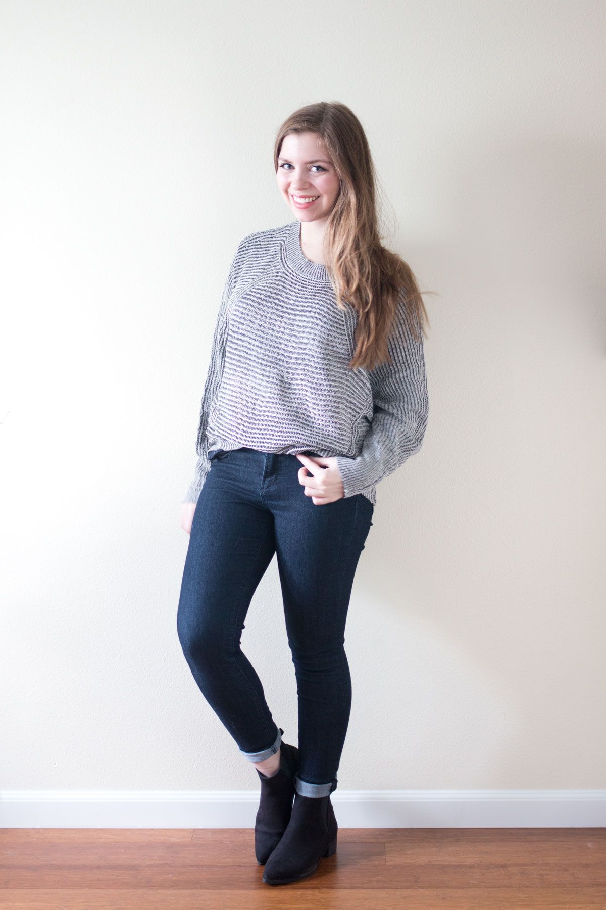 Stitch Fix January 2016: Mystree Felli Textured Pullover Sweater // hellorigby seattle fashion & style blog