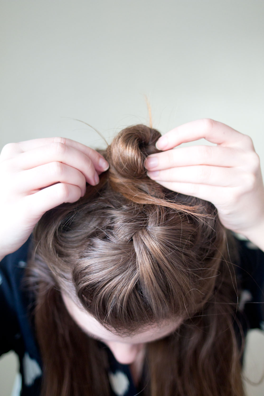 Half Top Knot Hair Tutorial with Crown Braid // Hello Rigby Seattle Beauty & Hair Blog