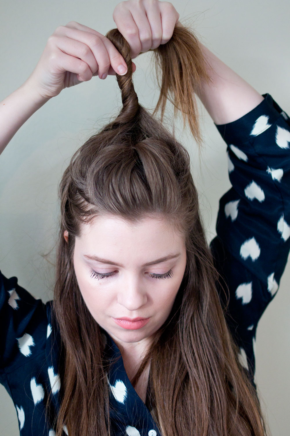 Half Top Knot Tutorial // Twist Hair to Create Bun // Hello Rigby Seattle Beauty & Hair Blog