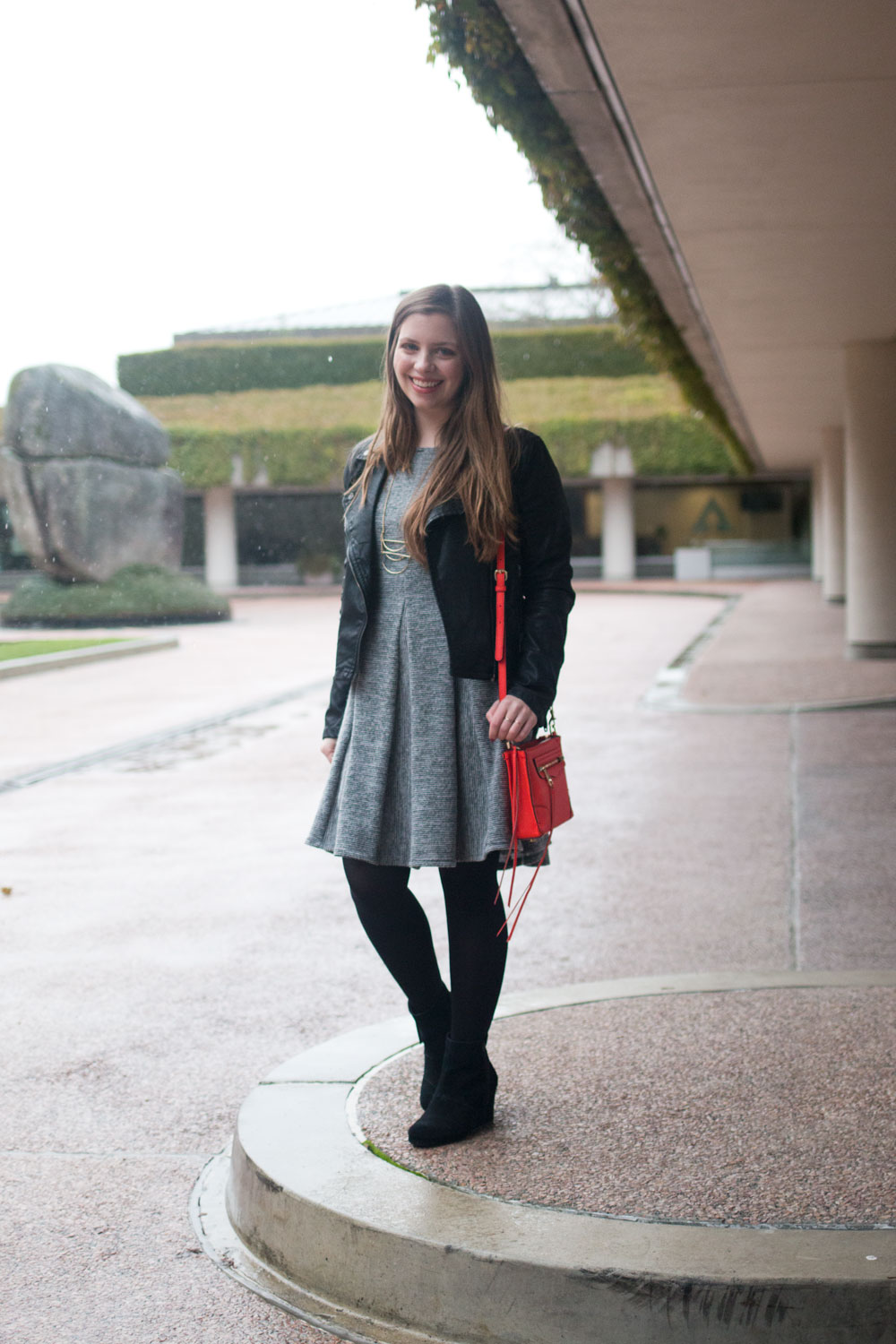 How to Wear a Leather Jacket with a Dress // Hello Rigby Seattle Fashion & Style Blog