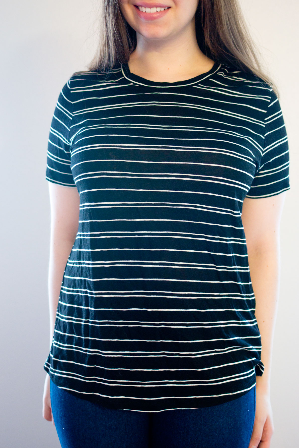 Target Who What Wear All Over Printed Tee in Black & White Stripe // Hello Rigby Seattle Fashion & Style Blog