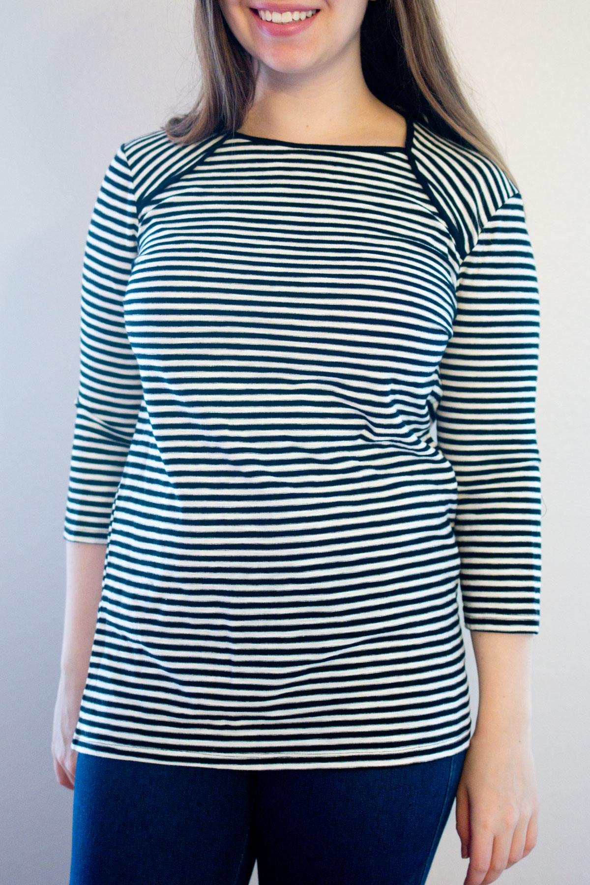 Target Who What Wear Bateau Top in Black & White Stripe // Hello Rigby Seattle Fashion & Style Blog