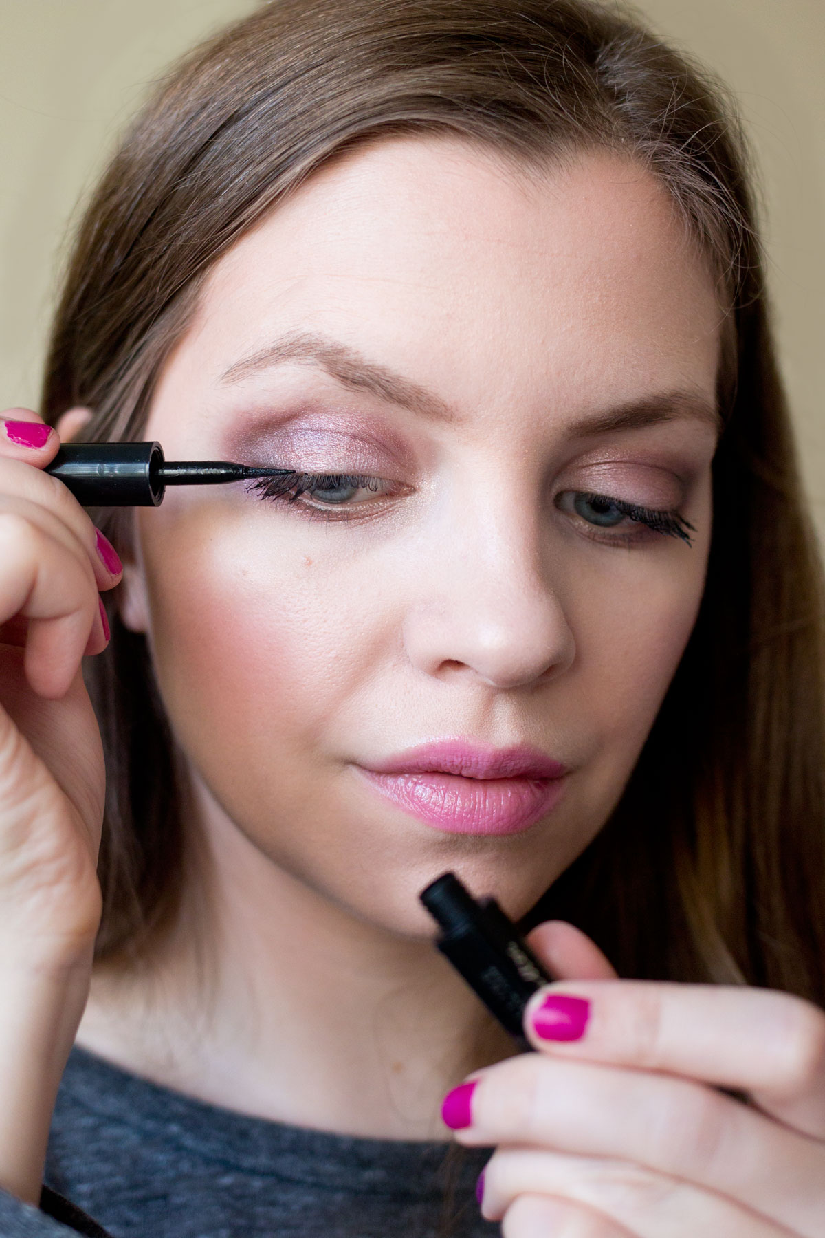 Valentine's Day Makeup // Maybeline Line Stiletto Eyeliner // Hello Rigby Seattle Beauty Blog