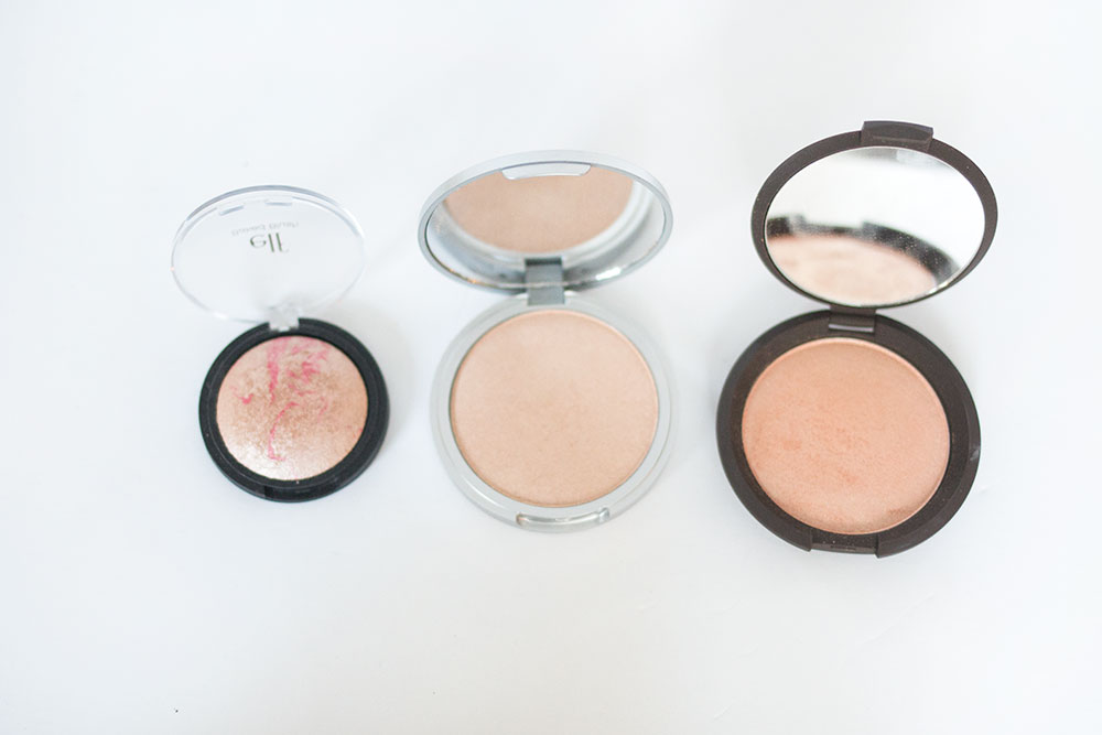 Becca Jaclyn Hill Champagne Pop vs theBalm Mary Lou Manizer vs ELF Pinktastic Blush // Best & Worst of Beauty Dupes/Duds // Hello Rigby Seattle Beauty & Style Blog