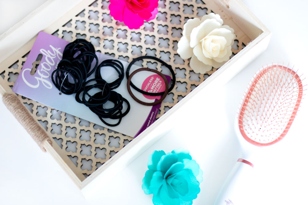 Goody Clean Radiance Copper Hair Brush & Goody Ouchless Hair Elastics from Target // Hello Rigby Seattle Beauty & Style Blog