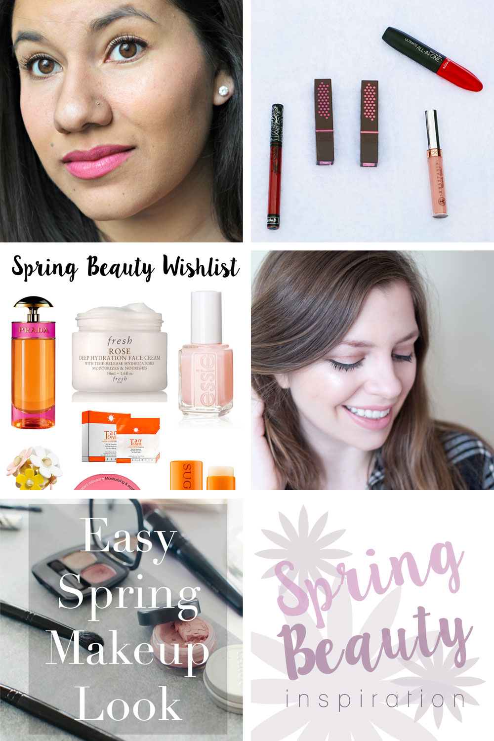 Spring Beauty Inspiration Collage // Hello Rigby Seattle Beauty & Fashion Blog