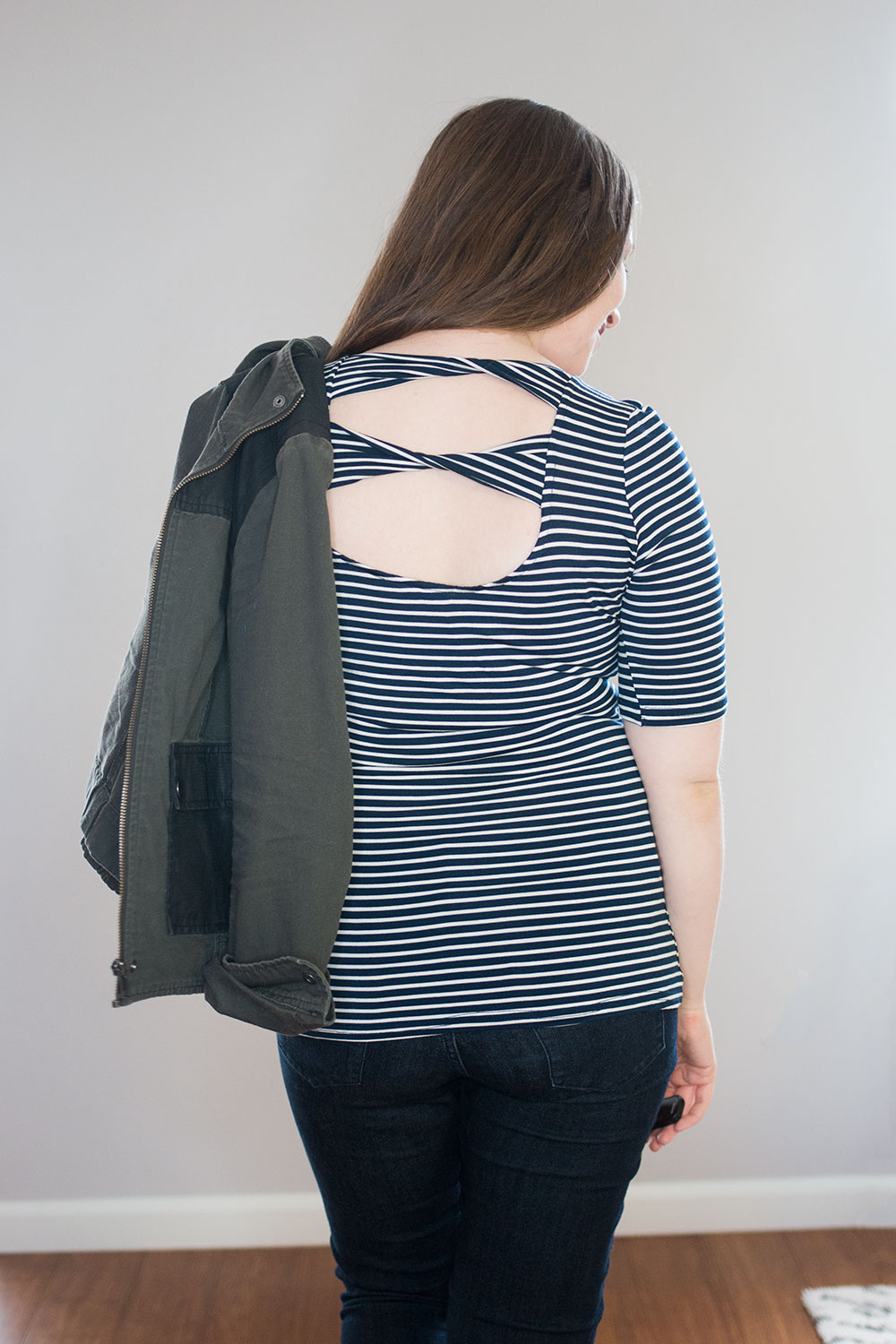 Stitch Fix March 2016 Review // Market & Spruce Abberley Cut Out Detail Knit Top {Back View} // Hello Rigby Seattle Fashion & Style Blog