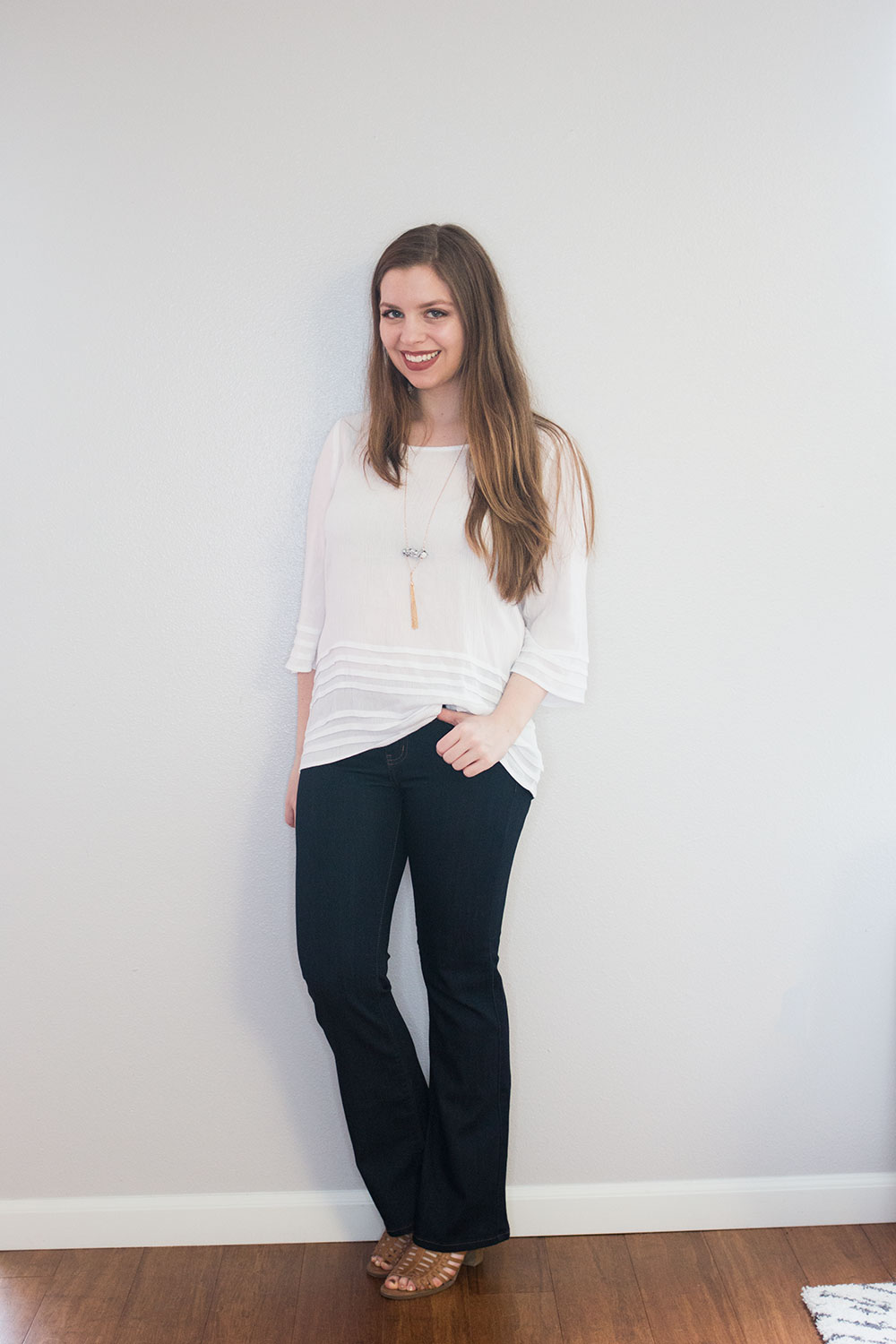 Stitch Fix March 2016 Review // Market & Spruce Levant Tiered Ruffle Top & Just Black Dolce Bootcut Jean // Hello RIgby Seattle Fashion & Style Blog