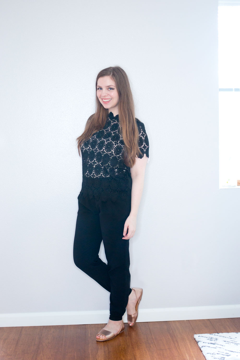 Target x Who What Wear High Neck Lace Top in Black // Hello Rigby Seattle Fashion & Style Blog
