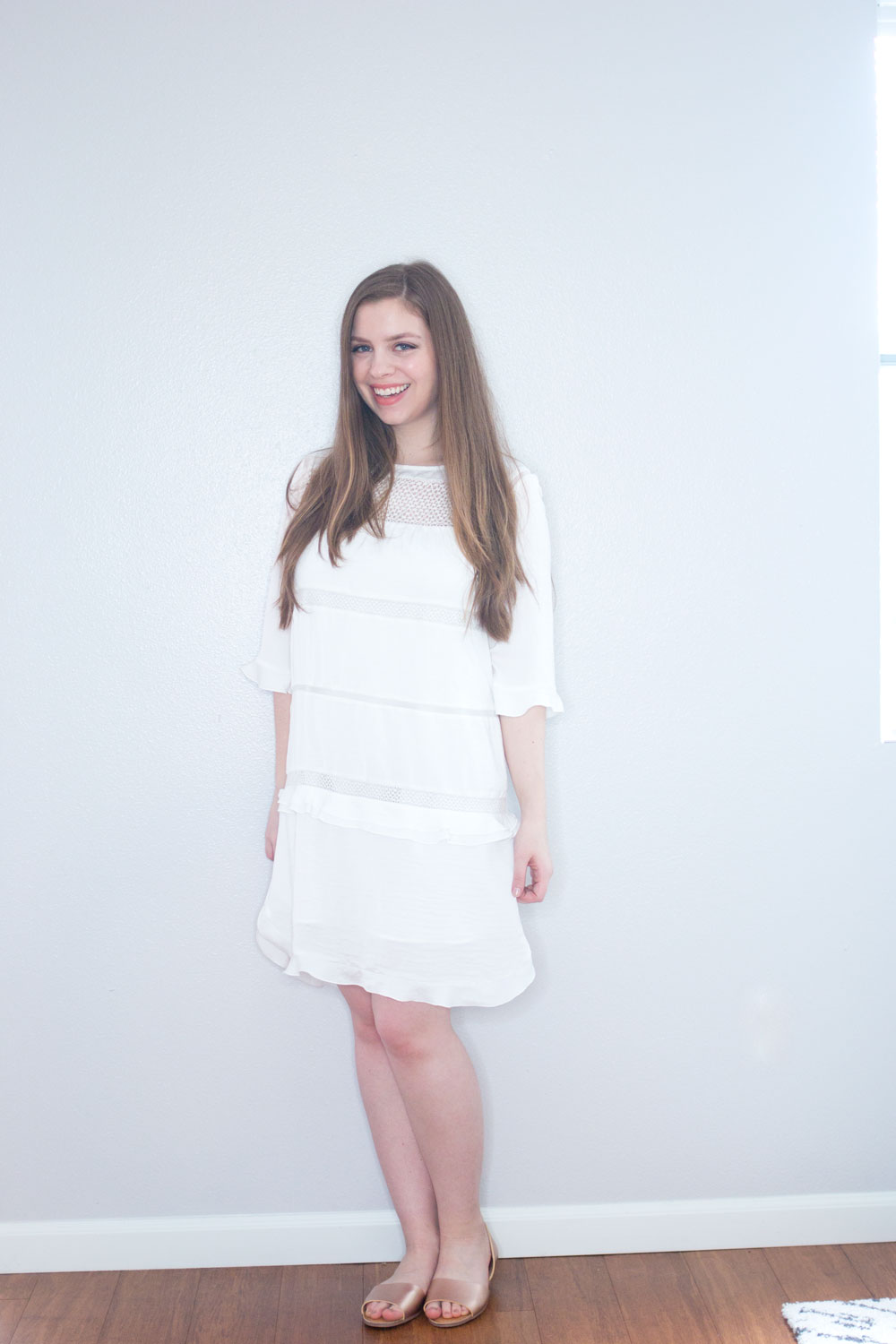 Target x Who What Wear Ruffle Shift Dress in White // Hello Rigby Seattle Fashion & Style Blog