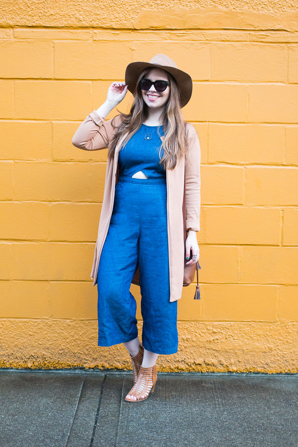 Culotte Jumpsuit Outfit with Bohemian Hat // Hello Rigby Seattle Style & Fashion Blog