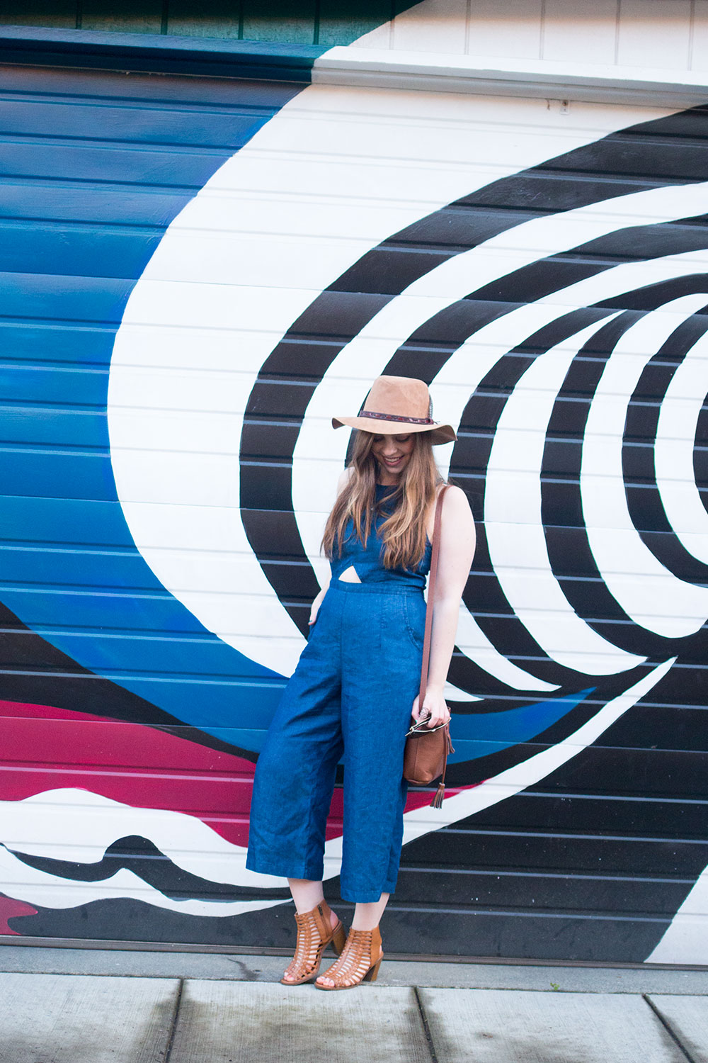 Denim Culotte Jumpsuit Outfit for Summer Music Festival // Hello Rigby Seattle Fashion & Style Blog