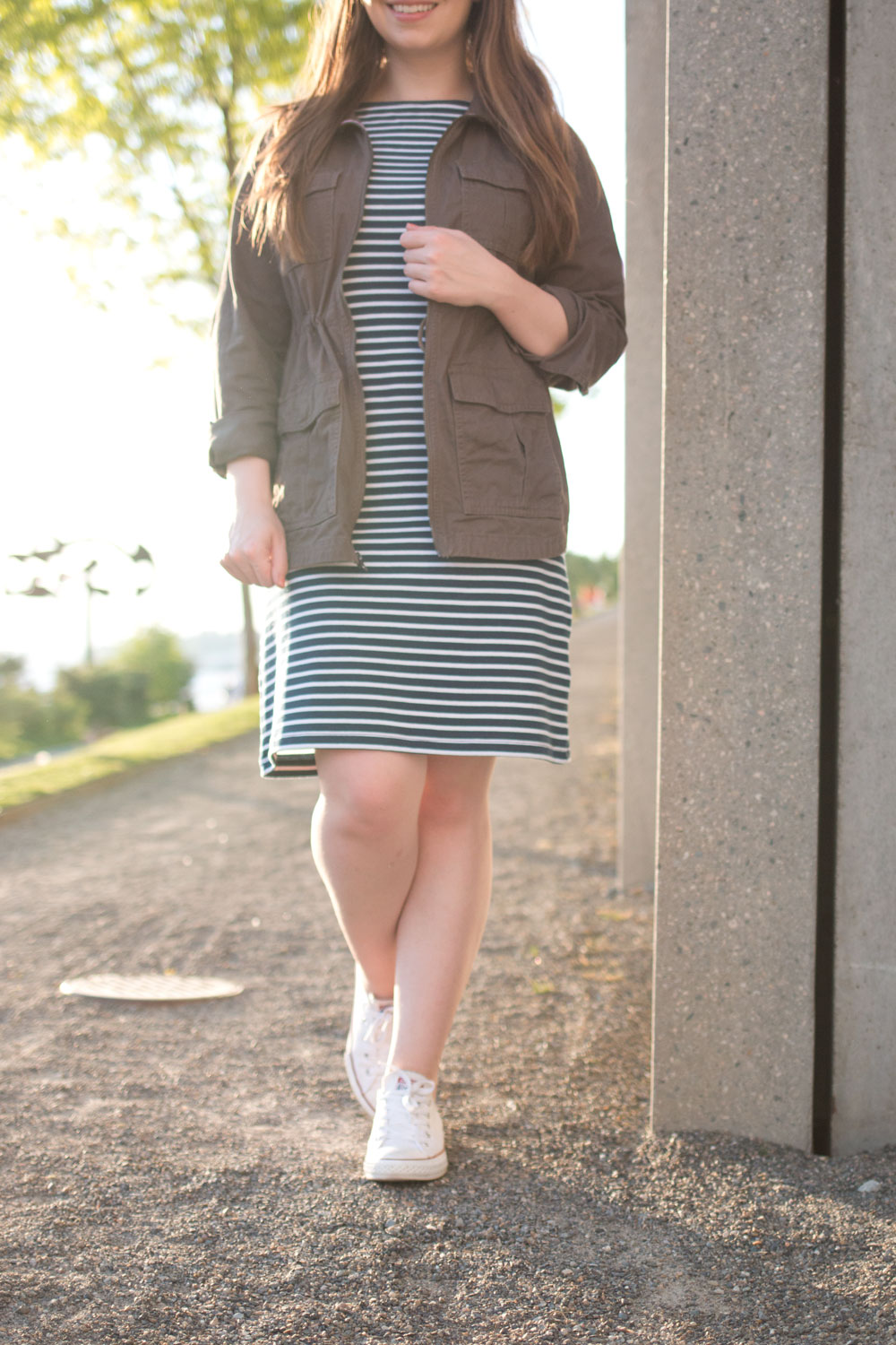 How to Wear a Striped Dress with Anorak // Hello Rigby Seattle Fashion & Style Blog