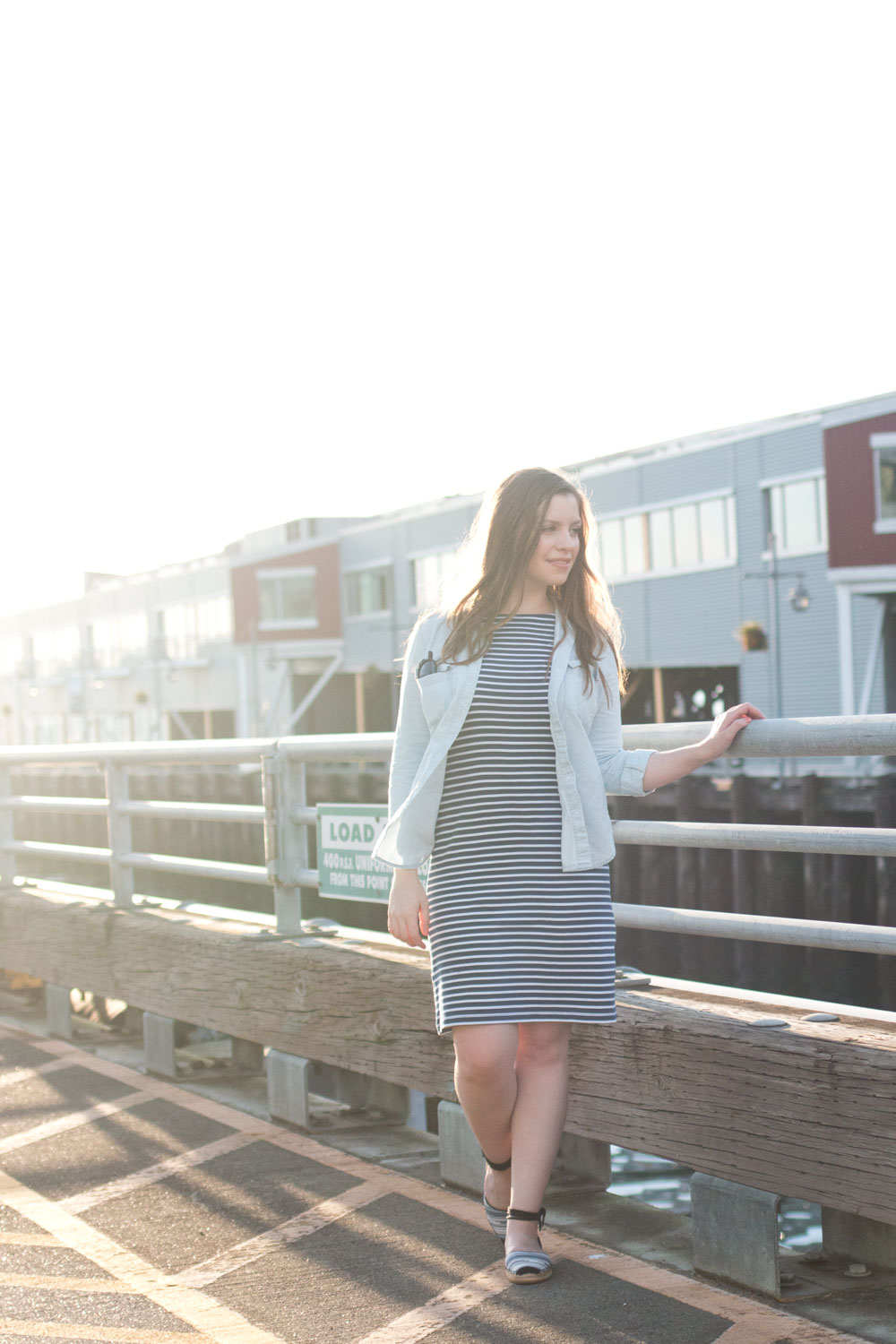 How to Wear a Striped Dress with Chambray // Hello Rigby Seattle Fashion & Style Blog
