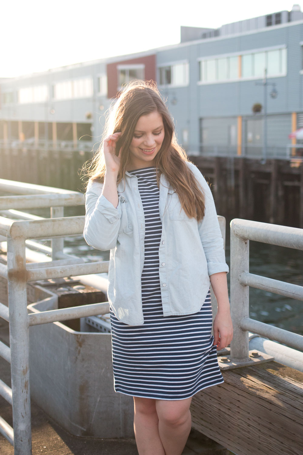 How to Wear a Striped Dress with Denim Top // Hello Rigby Seattle Fashion & Style Blog