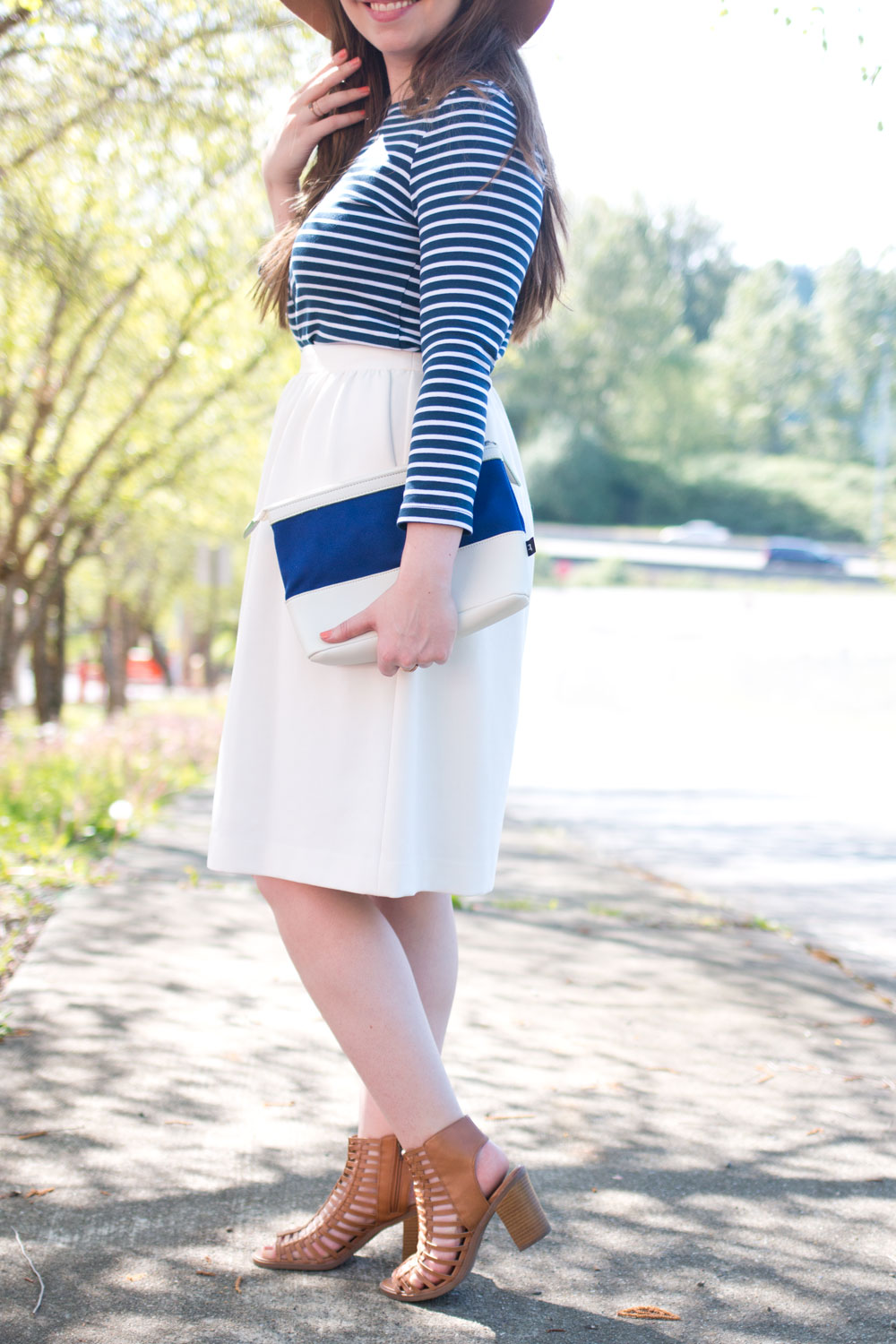 How to Wear a Striped Dress with Midi Skirt // Hello Rigby Seattle Fashion & Style Blog
