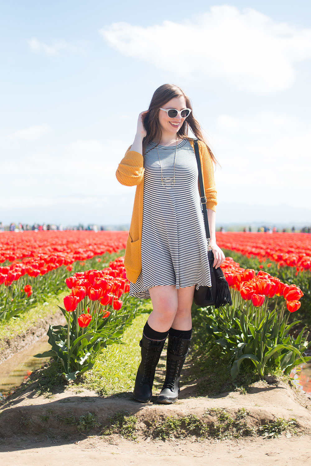 How to Wear Rain Boots with a Dress // Hello Rigby Seattle Style & Fashion Blog