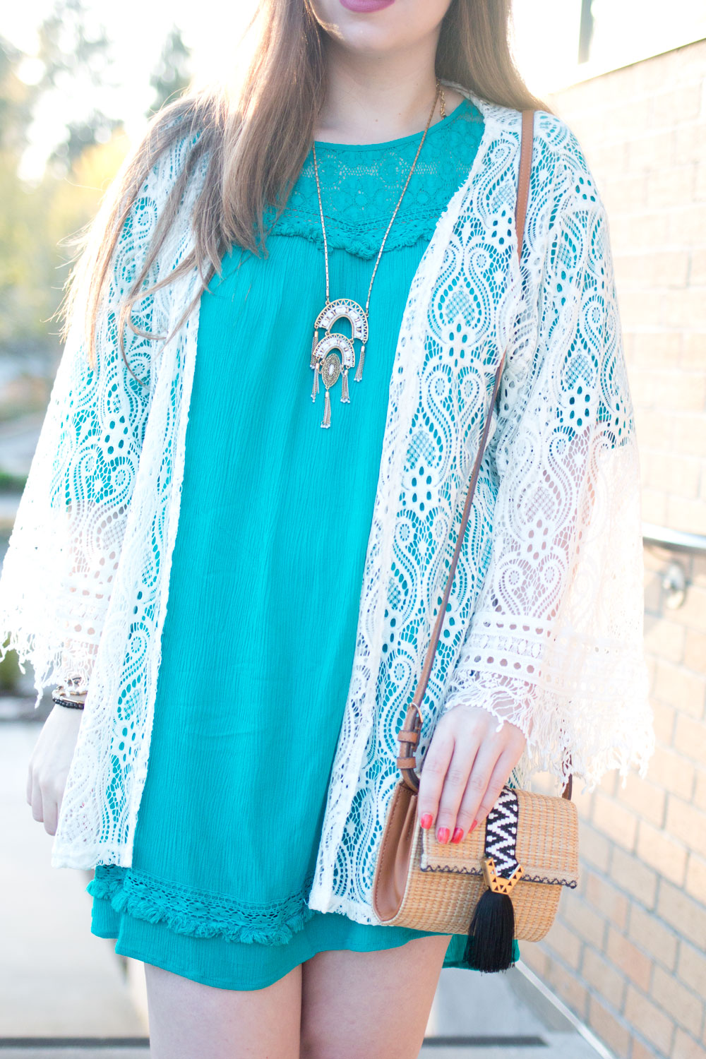 One Dress Three Ways Bohemian Outfit with Stella & Dot Jewelry & Bag // Hello Rigby Seattle Fashion & Style Blog