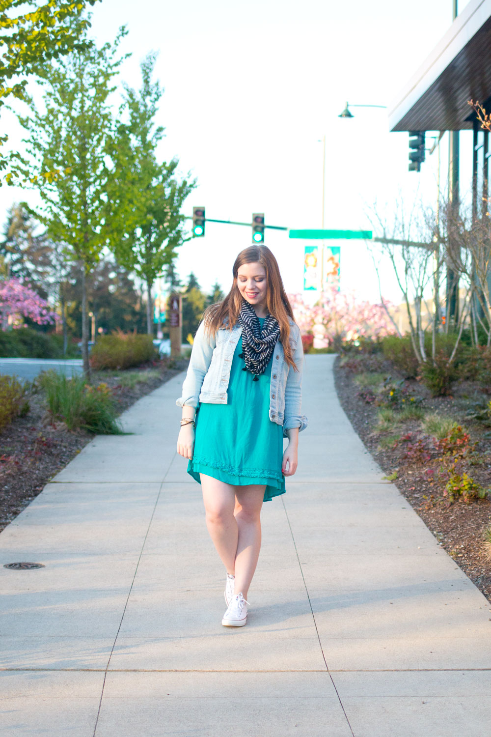 One Dress Three Ways: Casual Denim Jacket Outfit // Hello Rigby Seattle Fashion & Style Blog