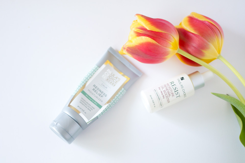 Paula's Choice Review: CALM Redness Relief Moisturizer & RESIST Moisture Renewal Oil Booster // Hello Rigby Seattle Beauty & Skincare Blog