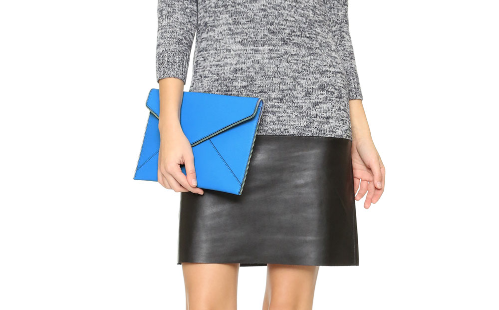 Rebecca Minkoff Leo Clutch in Denim Blue Giveaway // Hello Rigby Seattle Fashion & Style Blog