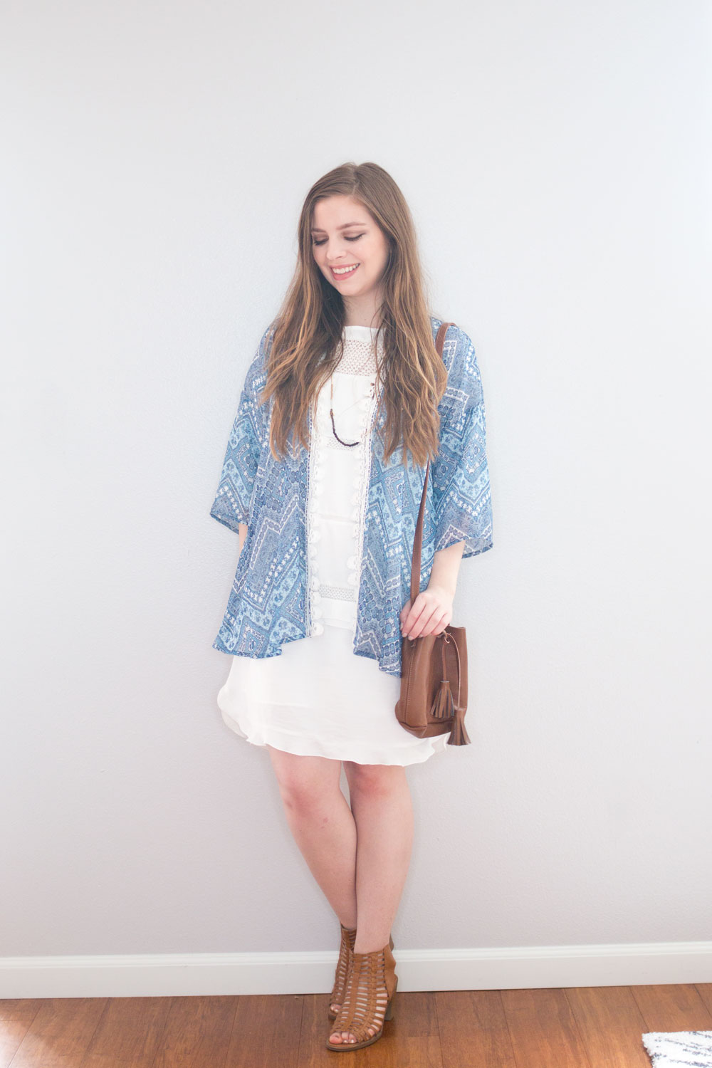 Stitch Fix April 2016 // Collective Concepts Andersson Printed Kimono in Blue // Hello Rigby Seattle Style & Fashion Blog