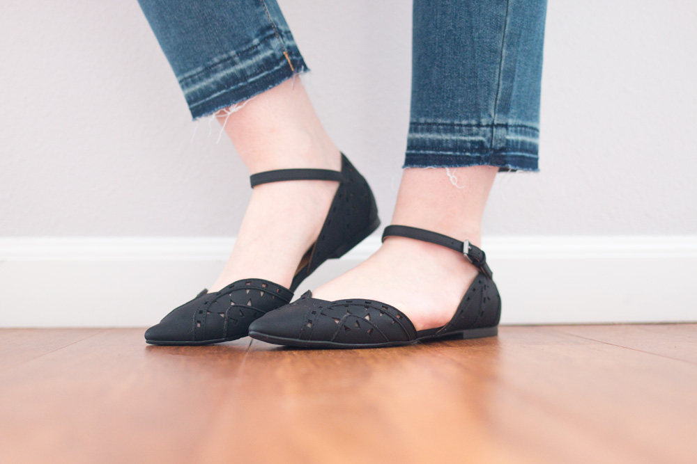 Stitch Fix April 2016 // MIA Nona Laser Cut Flats in Black // Hello Rigby Seattle Fashion & Style Blog