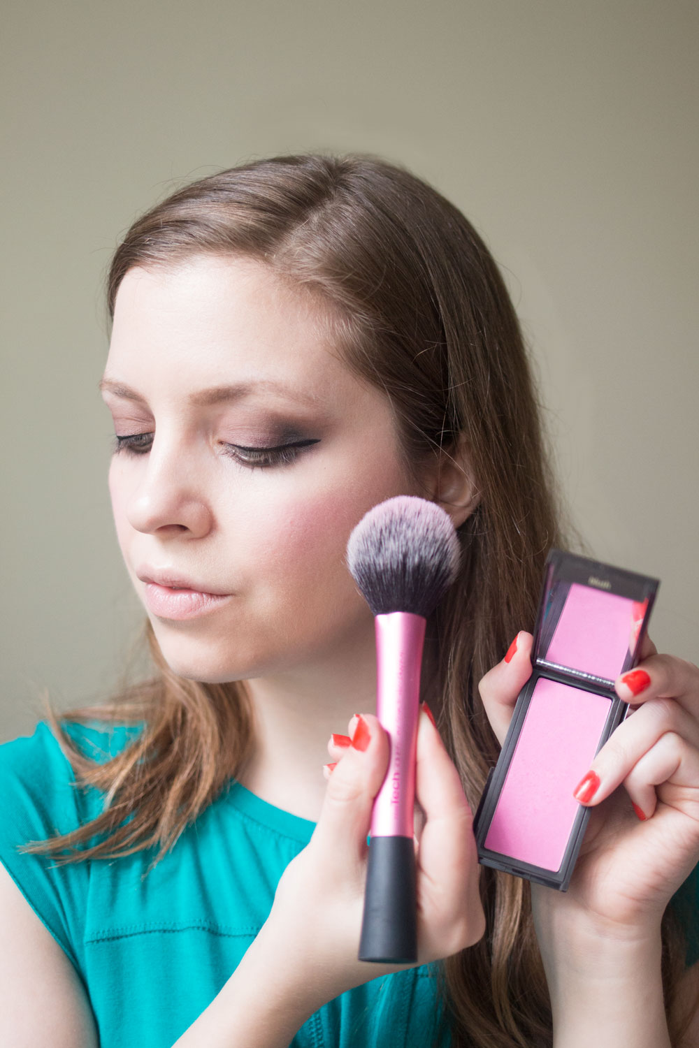 Jouer Cosmetics Review: Mineral Powder Blush in Peony // Hello Rigby Seattle Beauty Blog