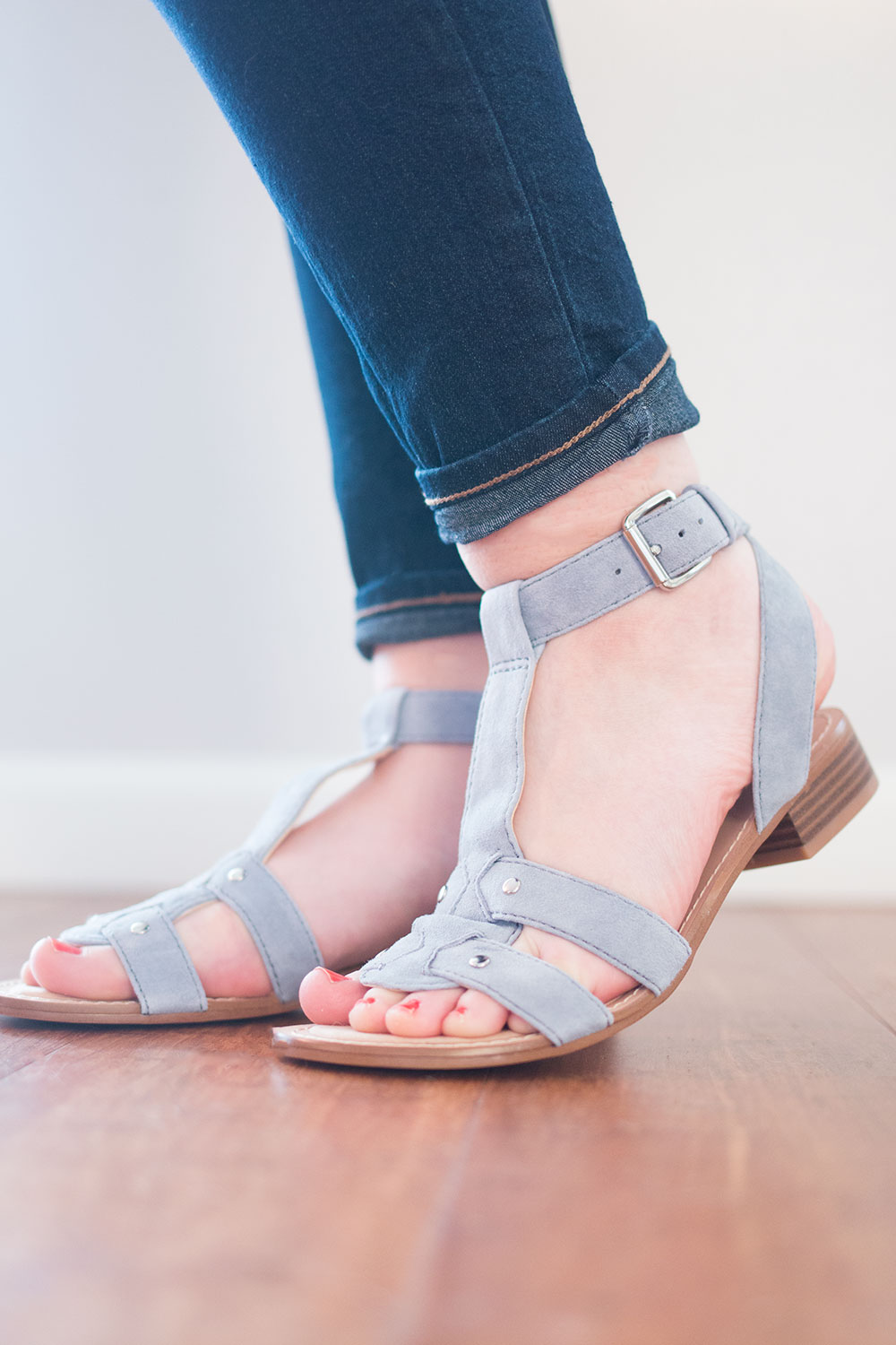 Stitch Fix May 2016: Nine West Yippee T-Strap Sandal // Hello Rigby Seattle Fashion & Style Blog