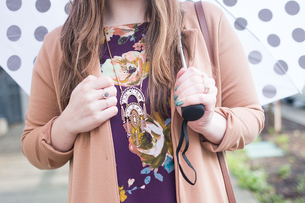 What to Wear on a Rainy Day for Dressy Event // Hello Rigby Seattle Style Blog