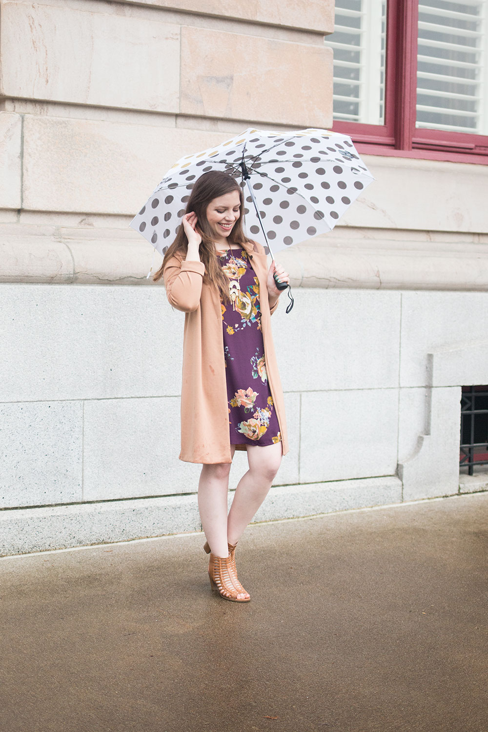 What to Wear on a Rainy Day for Dressy Occasion // Hello Rigby Seattle Fashion Blog