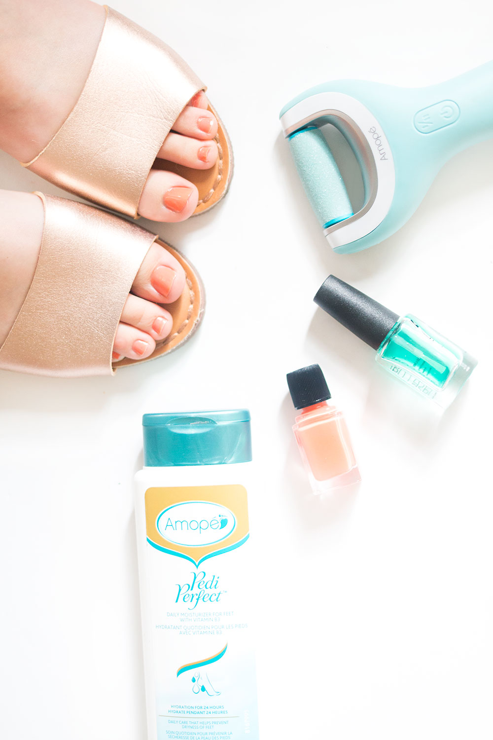 DIY Pedicure Amope Wet Dry Electronic Foot File // Hello Rigby Seattle Beauty Blog