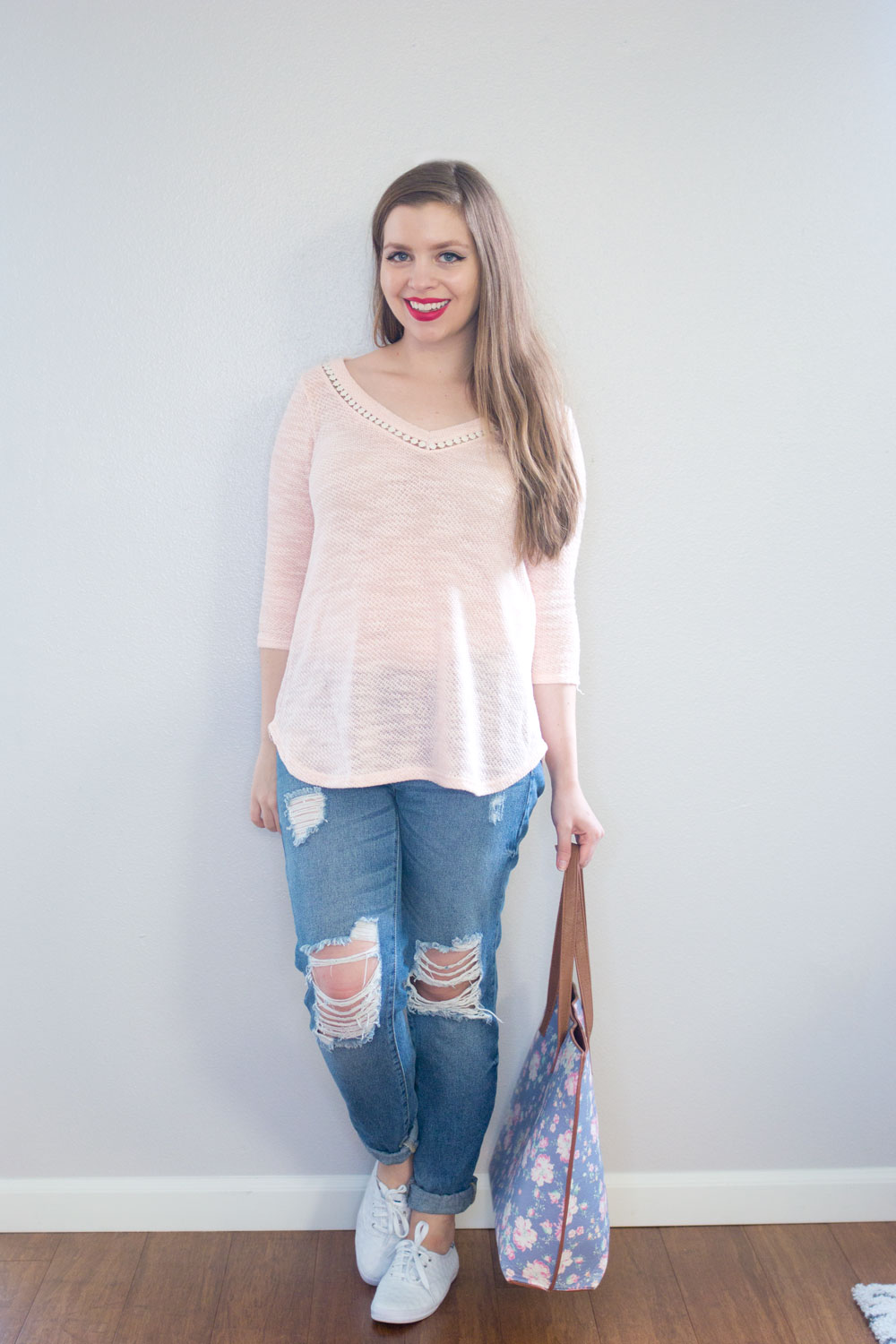 Stitch Fix June 2016 Review: Loveappella Hannelius Crochet Detail Top // Hello Rigby Seattle Fashion Blog