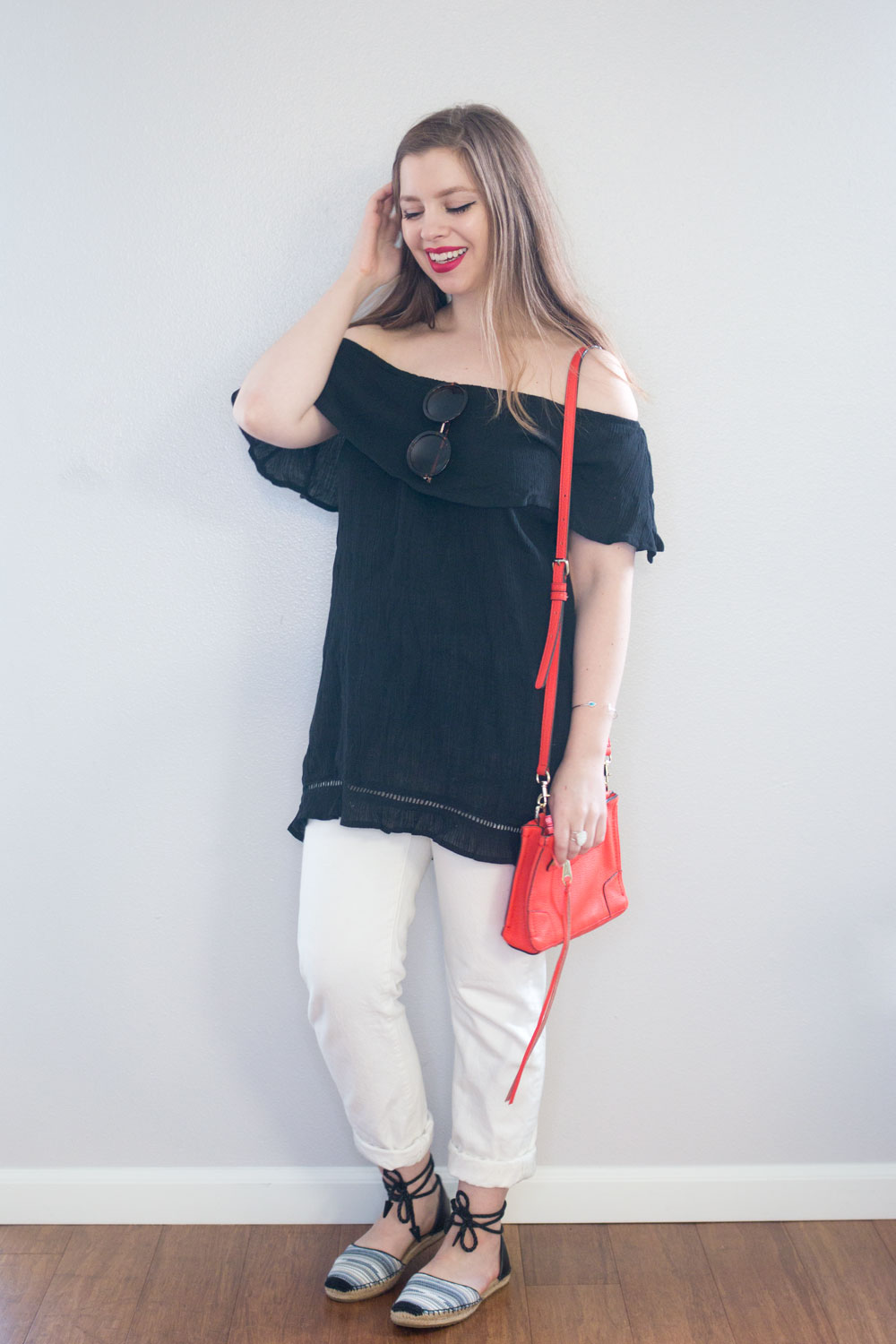 Stitch Fix June 2016 Review: RD Style Roquette Off the Shoulder Tunic in Black // Hello Rigby Seattle Fashion Blog