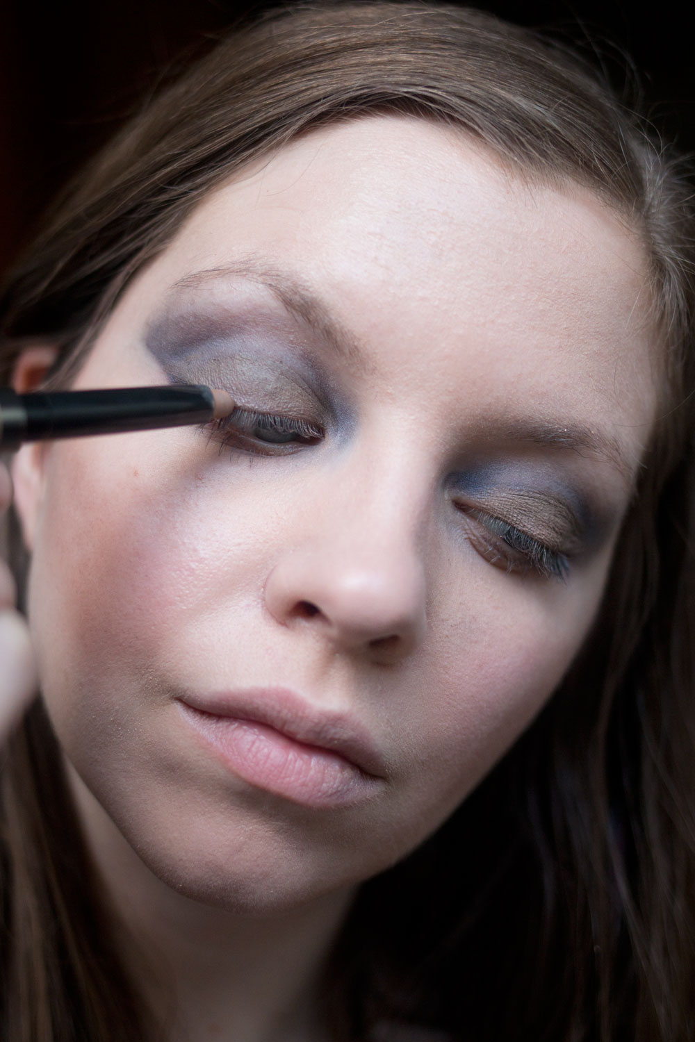 Burberry Beauty Blue Smokey Eye with Eye Contour Sculpt + Smoke Pen in Almond // Hello Rigby Seattle Beauty Blog