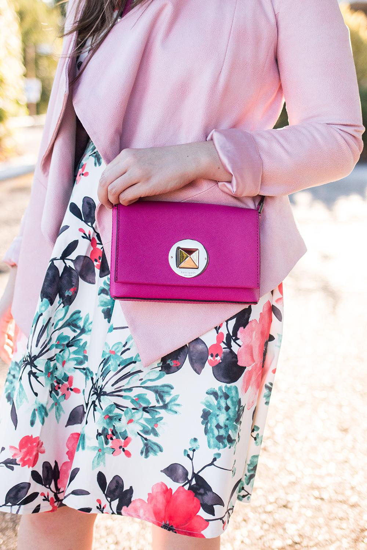 How to Dress Down a Dress // Kate Spade Newbury Lane Sally Bag, Quiz Clothing Skater Dress, Octavia Suede Moto Jacket // Hello Rigby Seattle Fashion Blog