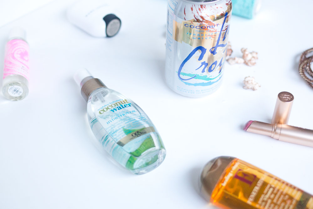 July Digs + Duds: OGZ Hydrating Coconut Water and Penetrating Oil, LaCroix Coconut // Hello Rigby Seattle Fashion Blog