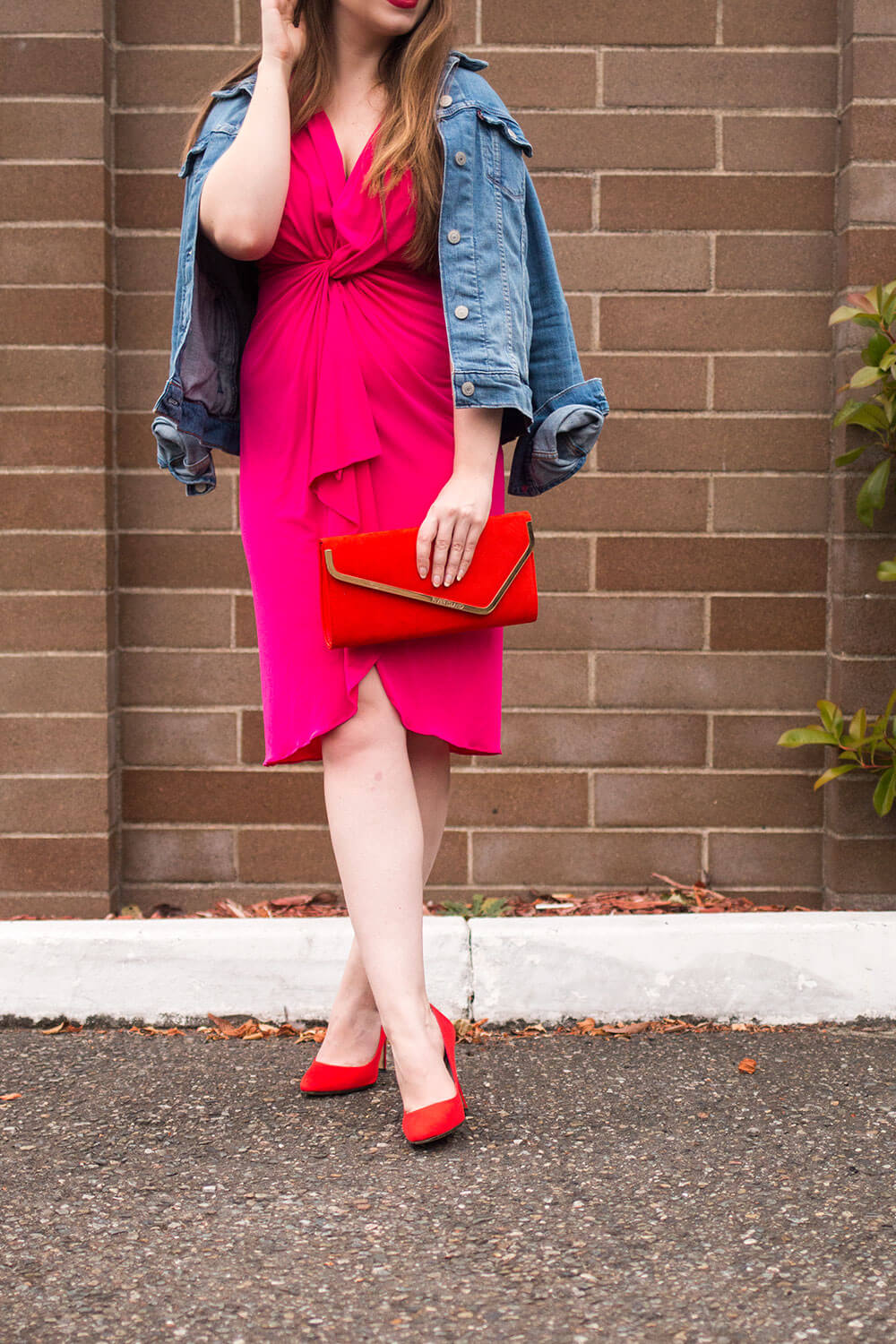 Le Tote Review: Catherine Catherine Malandrino Emily Cold Shoulder Twisted Front Dress // Hello Rigby Seattle Style Blog