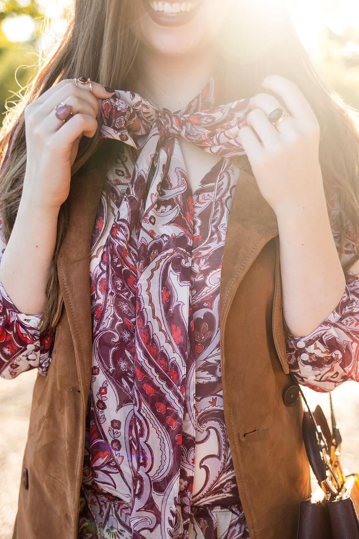 Olivia Palermo x Chelsea28 Paisley Chiffon Dress Outfit // Hello Rigby Seattle Fashion Blog
