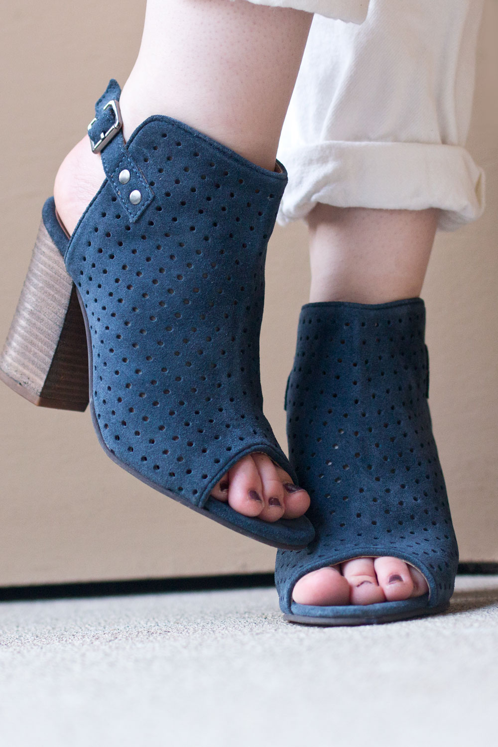 Stitch Fix August 2016: Diba Lili Perforated Heel in Navy // Hello Rigby Seattle Fashion Blog