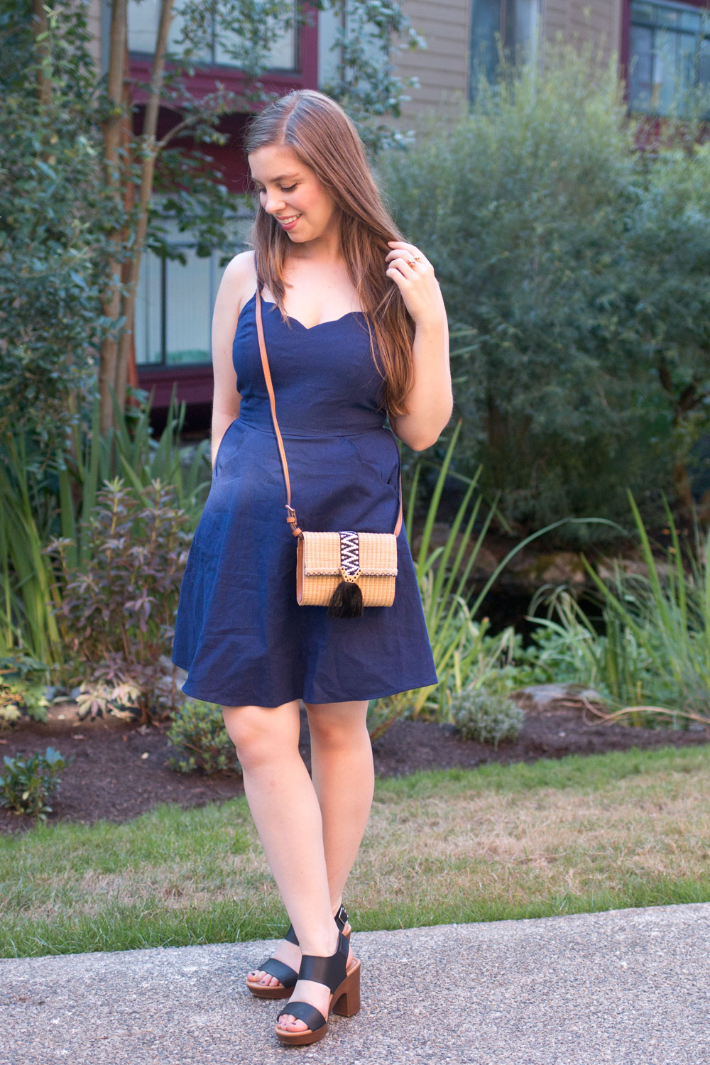 Stitch Fix August 2016 // Pixley Crissie Scalloped Dress in Navy // Hello Rigby Seattle Fashion Blog
