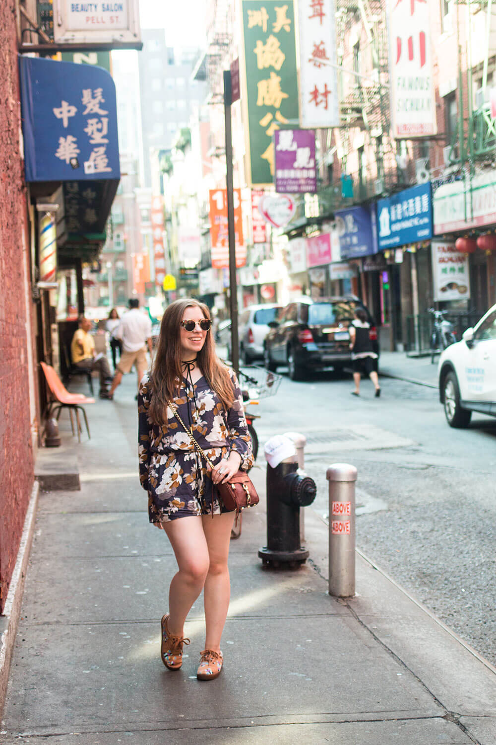 A Day in NYC: Chinatown Romper Outfit // Hello Rigby Seattle Fashion + Travel Blog
