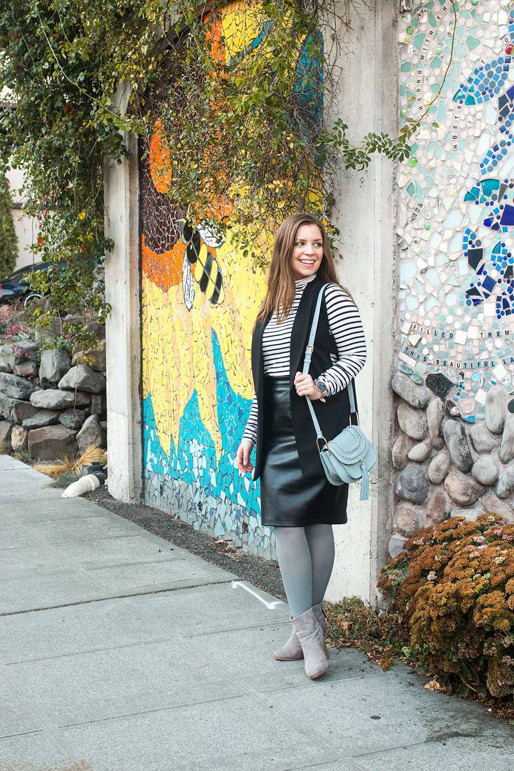 How to Wear Grey Tights Outfit // Hello Rigby Seattle Fashion Blog