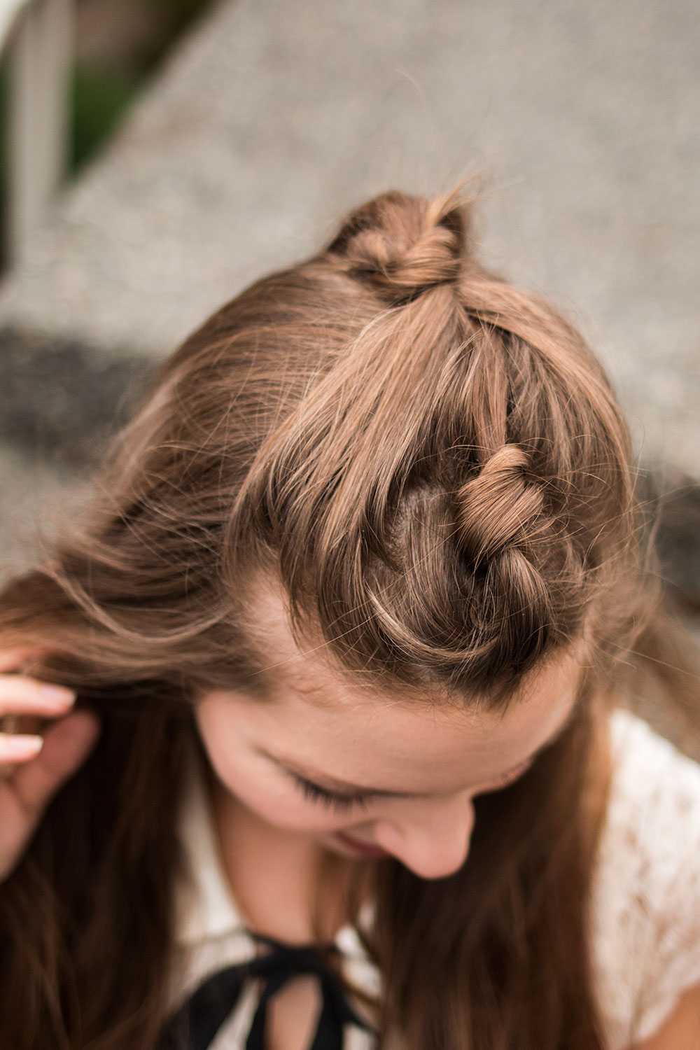 Double Knot Hair Style // Hello Rigby Seattle Fashion & Beauty Blog