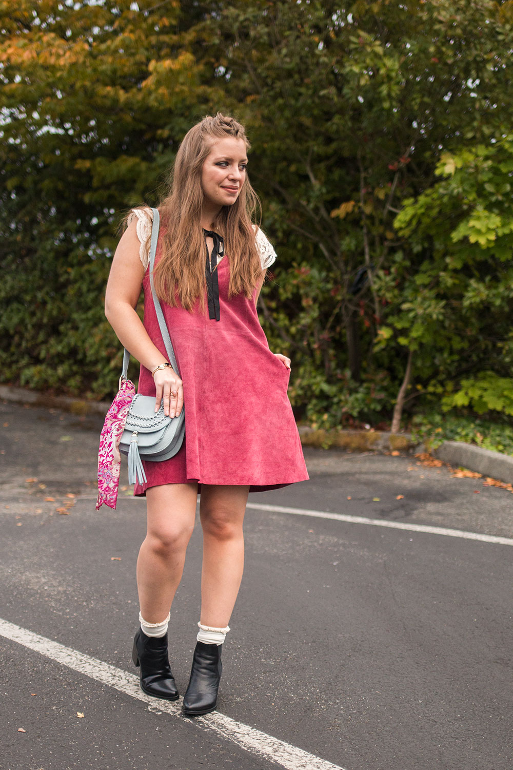 How to Wear Suede Dress Outfit // Hello Rigby Seattle Fashion Blog